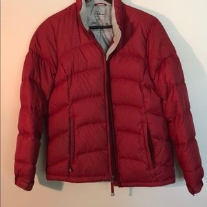LL Bean | Red Down Filled Coat Size Small